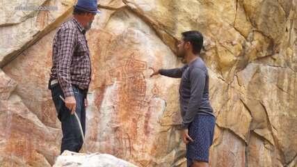 Pablo conhece figuras rupestres e artefatos de mais de 16 mil anos