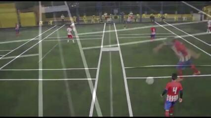 Vídeo mostra jogo de futebol adaptado à pandemia do coronavírus no Paraná