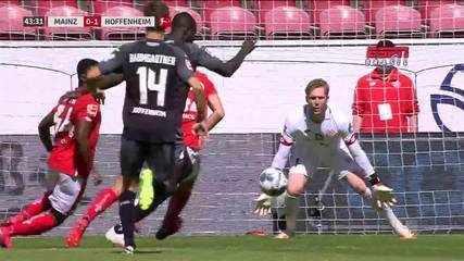 Os gols de Mainz 05 0 x 1 Hoffenheim pelo Campeonato Alemão