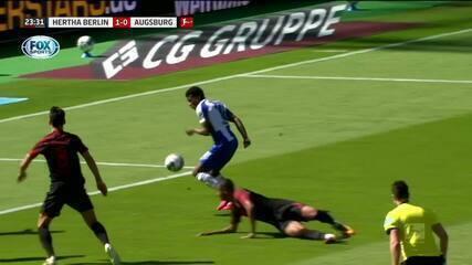 Os gols de Hertha Berlin 2 x 0 Augsburg pelo Campeonato Alemão
