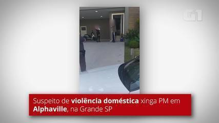 Suspeito de violência doméstica xinga PMs em Alphaville, na Grande SP