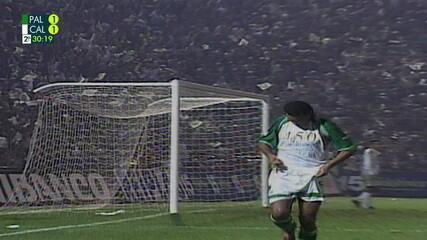 Os gols de Palmeiras 2 (4) x (3) 1 Deportivo Cali pela final da Taça Libertadores de 1999
