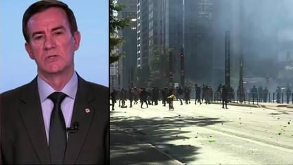 Polícia investiga confusão em protestos na Avenida Paulista