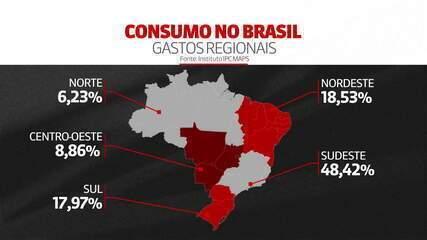 Pesquisa estima que potencial de consumo caia 5,39% no Brasil