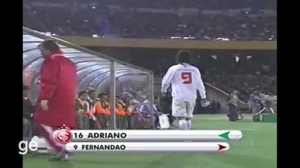 Relembre o momento em que Fernandão é substituído para a entrada de Gabiru, no Mundial