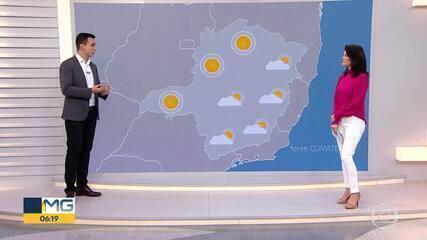 Previsão: Semana deve ter tempo estável em Minas
