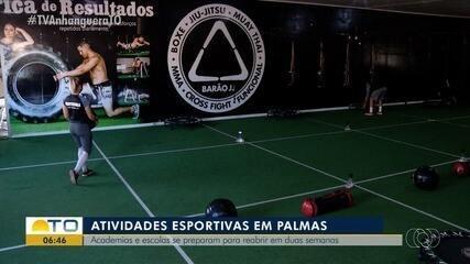 Faltam duas semanas para que academias e escolas esportivas voltem a funcionar em Palmas