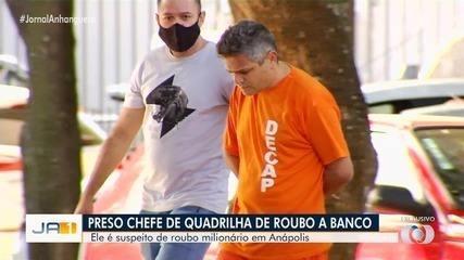 Suspeito de chefiar grupo que roubou R$ 1 milhão de agência bancária se entrega à polícia