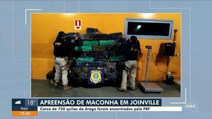 PRF apreende mais de 700 kgs de drogas em Joinville