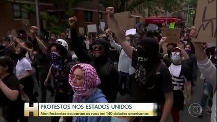 Manifestações pacíficas contra o racismo chegam a 140 cidades dos EUA
