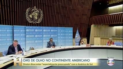 Pandemia na América do Sul preocupa OMS