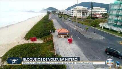 Prefeitura de Niterói volta a bloquear acessos às praias da Região Oceânica