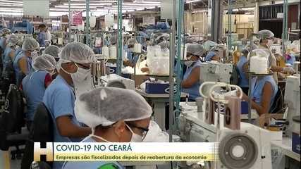 No Ceará, empresas são fiscalizadas depois de reabertura econômica