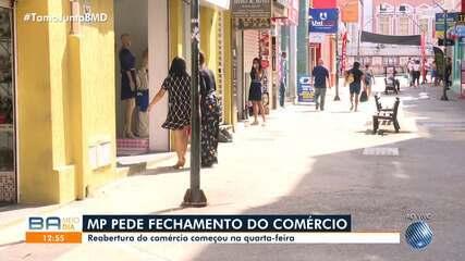 Ministério Público da Bahia pede o fechamento do comércio na cidade de Ilhéus, no sul