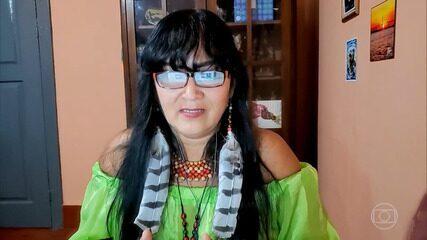 Milena Kokama e Marivelton Baré fala sobre a importância dos anciôes para os indígenas