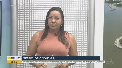 Amapá fecha parceria com Guiana Francesa para agilizar diagnóstico da Covid-19 em Oiapoque