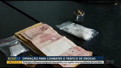 Polícia faz campanha contra o tráfico de drogas