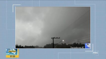Ventania no Oeste catarinense pode ter sido causada por tornado