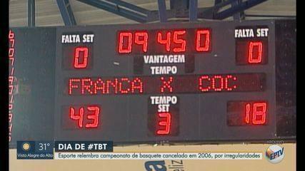 Esporte relembra campeonato de basquete cancelado em 2006 por irregularidades