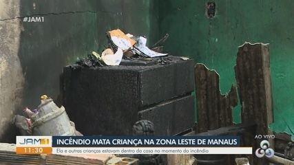Criança morre em incêndio na Zona Leste de Manaus