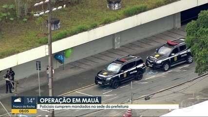 Operação policial em Mauá
