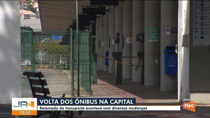 Transporte coletivo em Florianópolis será retomado em dois dias; veja regras
