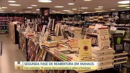 Começa segunda fase de reabertura em Manaus