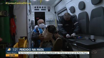 Bombeiros encontram idoso que ficou perdido cerca de 10 horas na Zona Sul de Porto Alegre