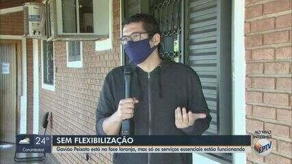 Gavião Peixoto está na fase laranja, mas só os serviços essenciais estão funcionando
