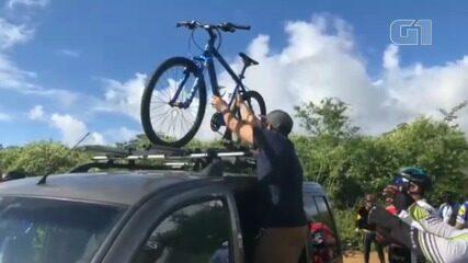 Grupo de ciclistas se une para ajudar menino que vive na zona rural de Feira de Santana
