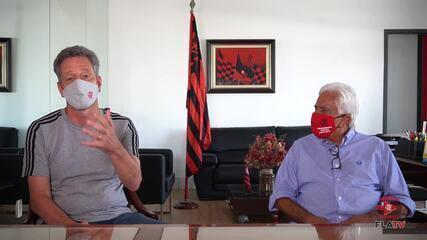 Presidente do Flamengo anuncia acordo de patrocínio com banco de Brasília