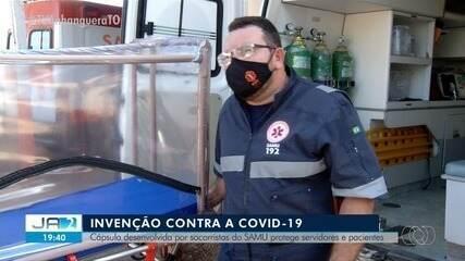 Socorristas do Samu em Palmas desenvolvem cápsula para proteção contra a Covid-19