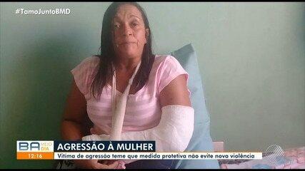 Violência contra mulher: moradora de Parapitanga denuncia ex-companheiro por agressão