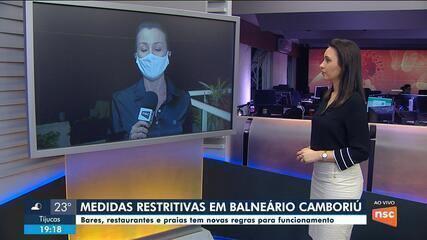 Balneário Camboriú adota novas regras para bares, restaurantes e praias
