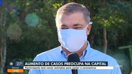 Prefeito fala sobre novas restrições contra Covid-19 em Florianópolis