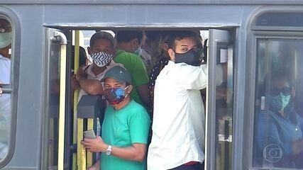 Greve de motoristas de ônibus causa aglomeração em ônibus de Natal (RN) |  Jornal Nacional | G1