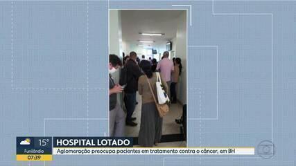 Telespectadora mostra salas cheias no Hospital Luxemburgo