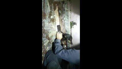Corpo de Bombeiros resgata cachorrinha presa em tubulação em Uberaba