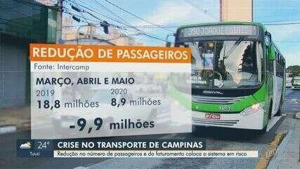 Redução de passageiros no transporte público de Campinas coloca sistema em risco