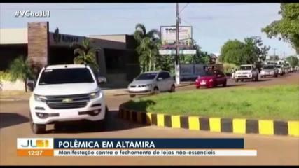 Manifestação em Altamira pede reabertura de atividades não essenciais