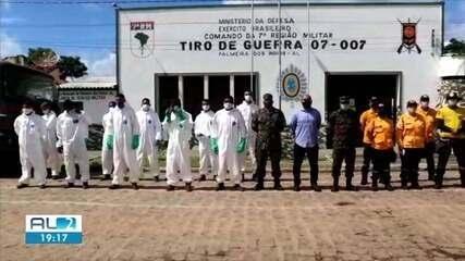 Militares do exército fazem desinfecção em comunidades indígenas