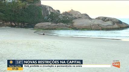 Florianópolis proíbe circulação e permanência de pessoas nas areias das praias