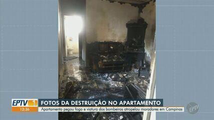 Corpo de Bombeiros atropela pedestres durante ocorrência de incêndio em Campinas