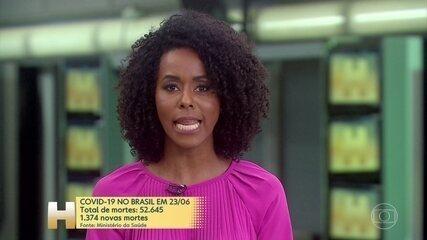 Brasil teve o segundo maior registro diário de vítimas da Covid-19