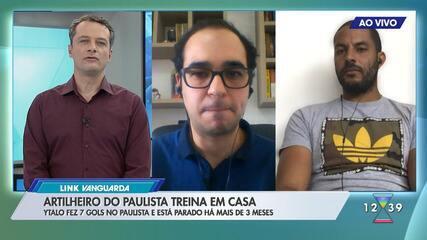 Artilheiro do Paulistão pelo Bragantino, Ytalo fala sobre adaptação à quarentena