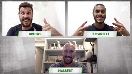 Bruninho e o Lucarelli falam sobre a amizade em bate-papo com Nalbert