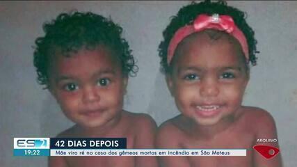 Mãe vira ré no caso dos gêmeos mortos em incêndio em São Mateus, ES