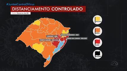Sobe para nove o número de regiões com bandeira vermelha no distanciamento controlado