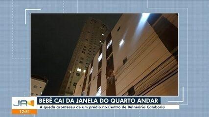 Criança cai da janela de apartamento em Balneário Camboriú