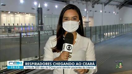 A chegada de 300 respiradores ao Ceará